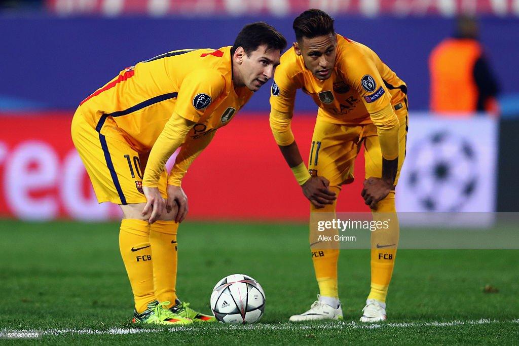 Club Atletico de Madrid v FC Barcelona - UEFA Champions League Quarter Final: Second Leg : News Photo