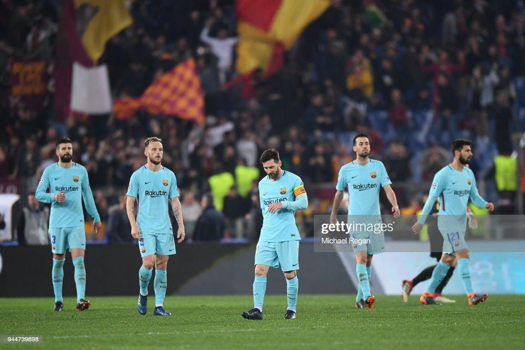 AS Roma v FC Barcelona - UEFA Champions League Quarter Final Second Leg : Nachrichtenfoto