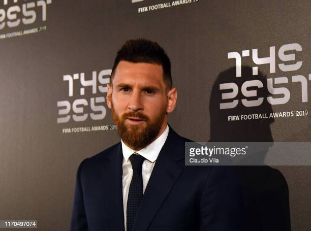 Lionel Messi attends The Best FIFA Football Awards 2019 at the Teatro Alla Scala on September 23 2019 in Milan Italy