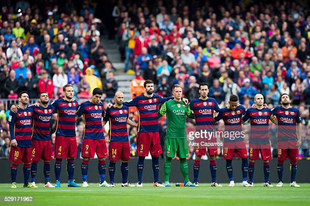 Lionel Messi Dani Alves Ivan Rakitic Luis Suarez Javier Mascherano Gerard Pique MarcAndre Ter Stegen Sergio Busquets Neymar Santos Jr Andres Iniesta...