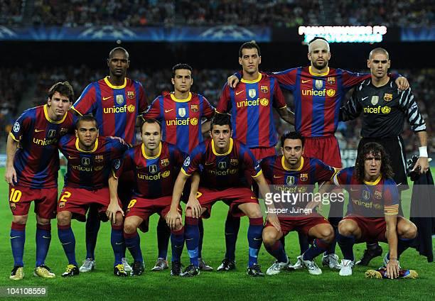 Lionel Messi Daniel Alves Eric Abidal Andres Iniesta Pedro Rodriguez David Villa Sergio Busquets Xavi Hernandez Gerard Pique Carles Puyol and...