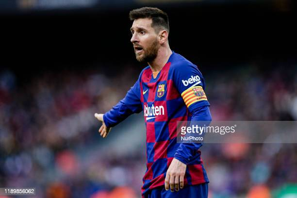 Lionel Messi from Argentina of FC Barcelona during La Liga match between FC Barcelona and Deportivo Alaves at Camp Nou on December 21, 2019 in...