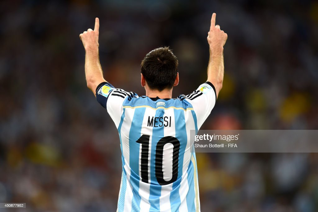 Lionel Messi of Argentina celebrates after scoring a goal during the 2014 FIFA World Cup Brazil Group F match between Argentina and Bosnia-Herzegovina at Maracana on June 15, 2014 in Rio de Janeiro, Brazil.