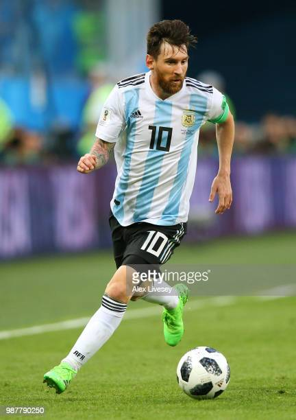 Lionel Messi of Argentina during the 2018 FIFA World Cup Russia group D match between Nigeria and Argentina at Saint Petersburg Stadium on June 26...