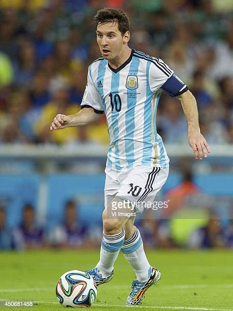 Lionel Messi of Argentina during the FIFA World Cup 2014 match between Argentina and Bosnia and Herzegovina on June 15 2014 at the Maracano in Rio de...