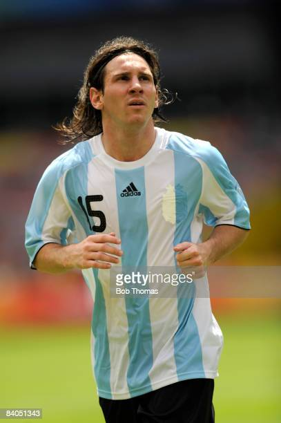 Lionel Messi of Argentina during the Men's Gold Medal football match between Nigeria and Argentina at the National Stadium on Day 15 of the Beijing...