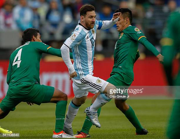 Lionel Messi of Argentina follows the play against Bolivia during the 2016 Copa America Centenario Group D match at CenturyLink Field on June 14 2016...