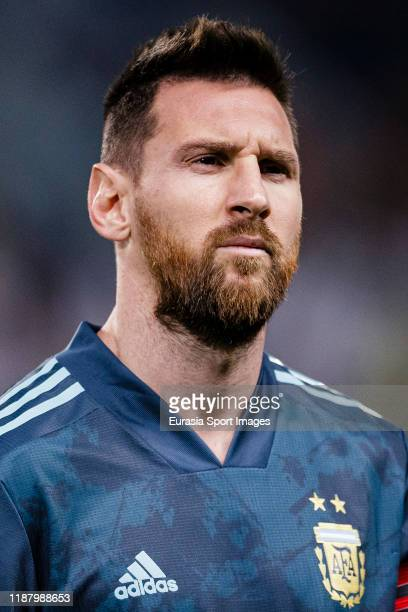 Lionel Messi of Argentina getting into the field during the international friendly match between Brazil and Argentina at the King Saud University...