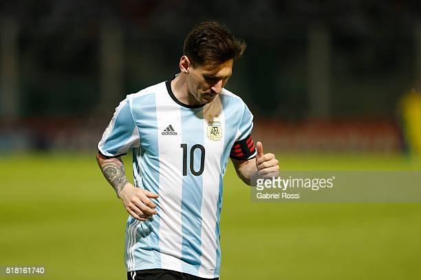 Lionel Messi of Argentina in action during a match between Argentina and Bolivia as part of FIFA 2018 World Cup Qualifiers at Mario Alberto Kempes...