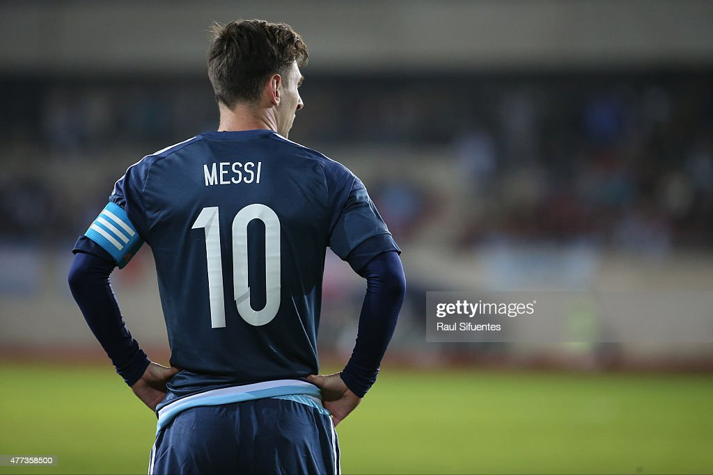 Lionel Messi of Argentina looks on during the 2015 Copa ...