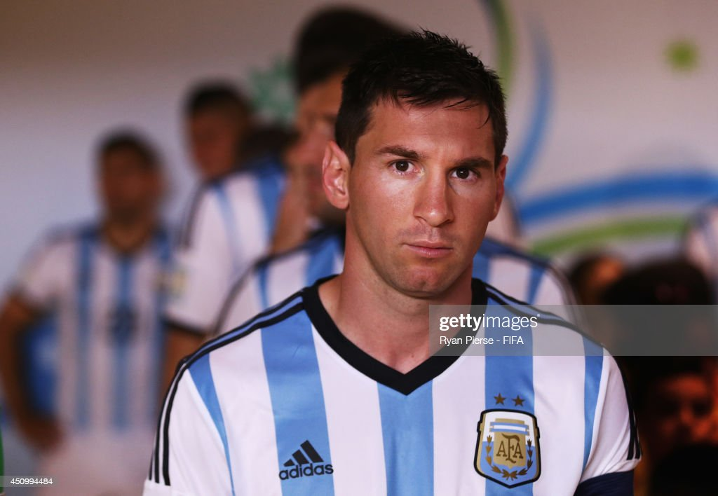 Lionel Messi of Argentina looks on in the tunnel prior to the 2014 FIFA World Cup Brazil Group F match between Argentina and Iran at Estadio Mineirao on June 21, 2014 in Belo Horizonte, Brazil.
