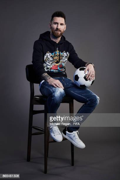 Lionel Messi of Argentina poses during The Best FIFA Football Awards at The May Fair Hotel on October 23 2017 in London England