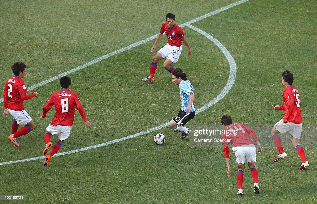 Argentina v South Korea: Group B - 2010 FIFA World Cup : News Photo