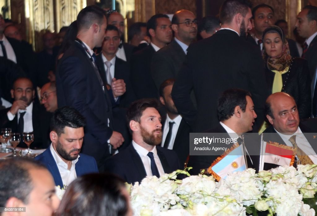 Lionel Messi in Egypt : News Photo