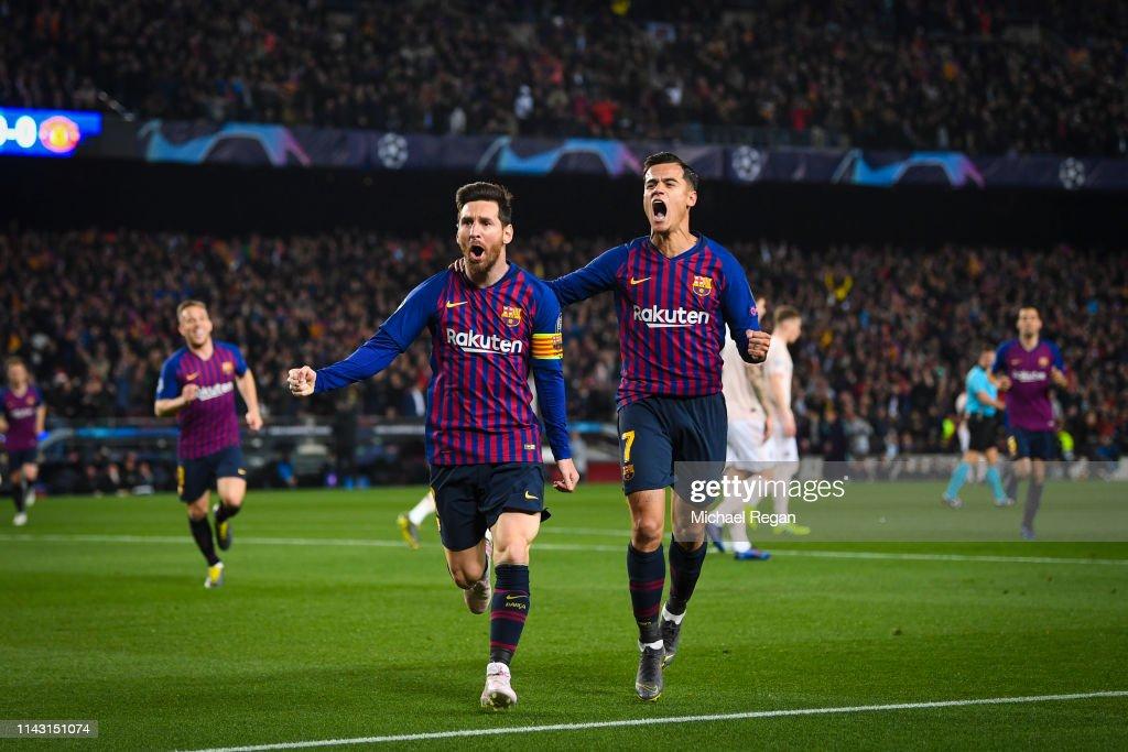 FC Barcelona v Manchester United - UEFA Champions League Quarter Final: Second Leg : Foto jornalística