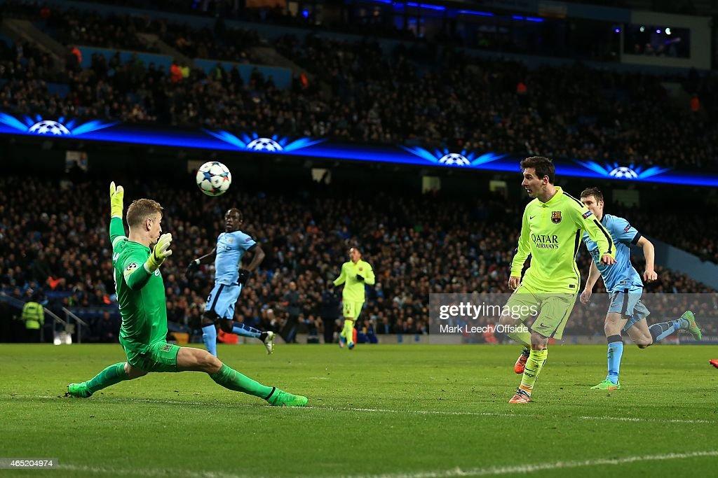 Manchester City v FC Barcelona - UEFA Champions League Round of 16 : News Photo