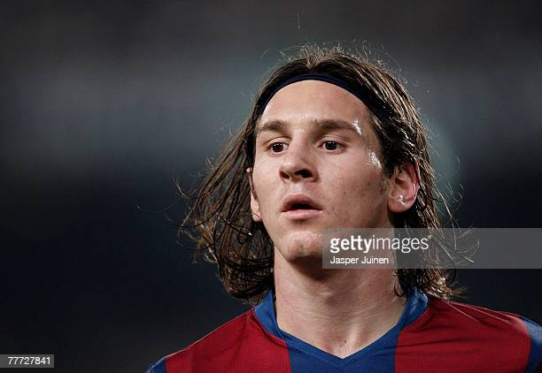 Lionel Messi of Barcelona during the La Liga match between Barcelona and Real Betis at the Camp Nou Stadium on November 4 2007 in Barcelona Spain
