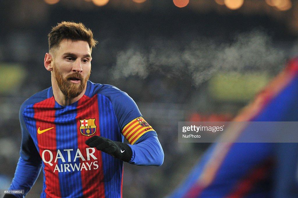 Real Sociedad v FC Barcelona - Copa Del Rey Quarter-final: First Leg : News Photo