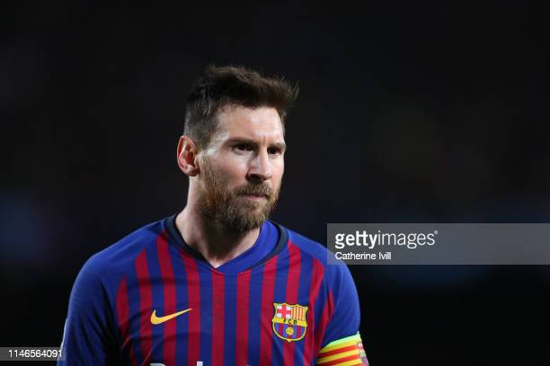 Lionel Messi of Barcelona during the UEFA Champions League Semi Final first leg match between Barcelona and Liverpool at the Nou Camp on May 01 2019...