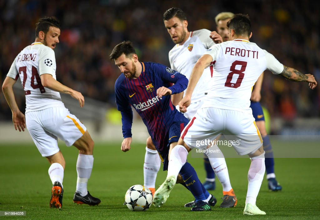 FC Barcelona v AS Roma - UEFA Champions League Quarter Final Leg One