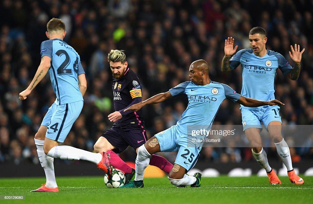 Manchester City FC v FC Barcelona - UEFA Champions League : News Photo