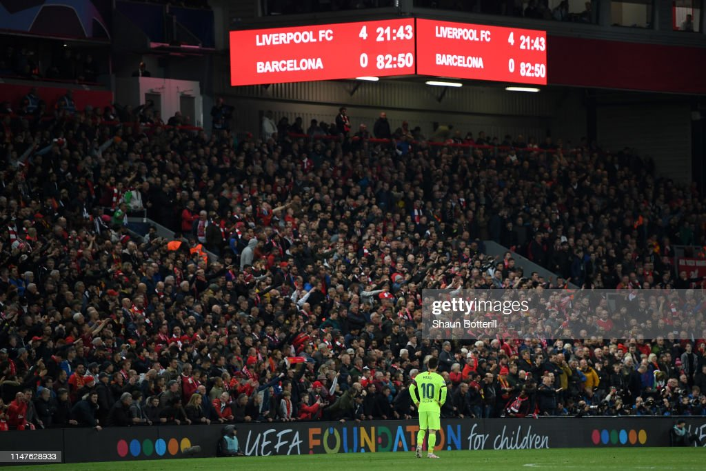 Liverpool v Barcelona - UEFA Champions League Semi Final: Second Leg : Nachrichtenfoto