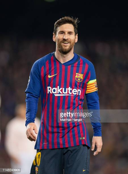 Lionel Messi of Barcelona seen during the UEFA Champions League Quarter Final second leg match between FC Barcelona and Manchester United at Camp Nou...