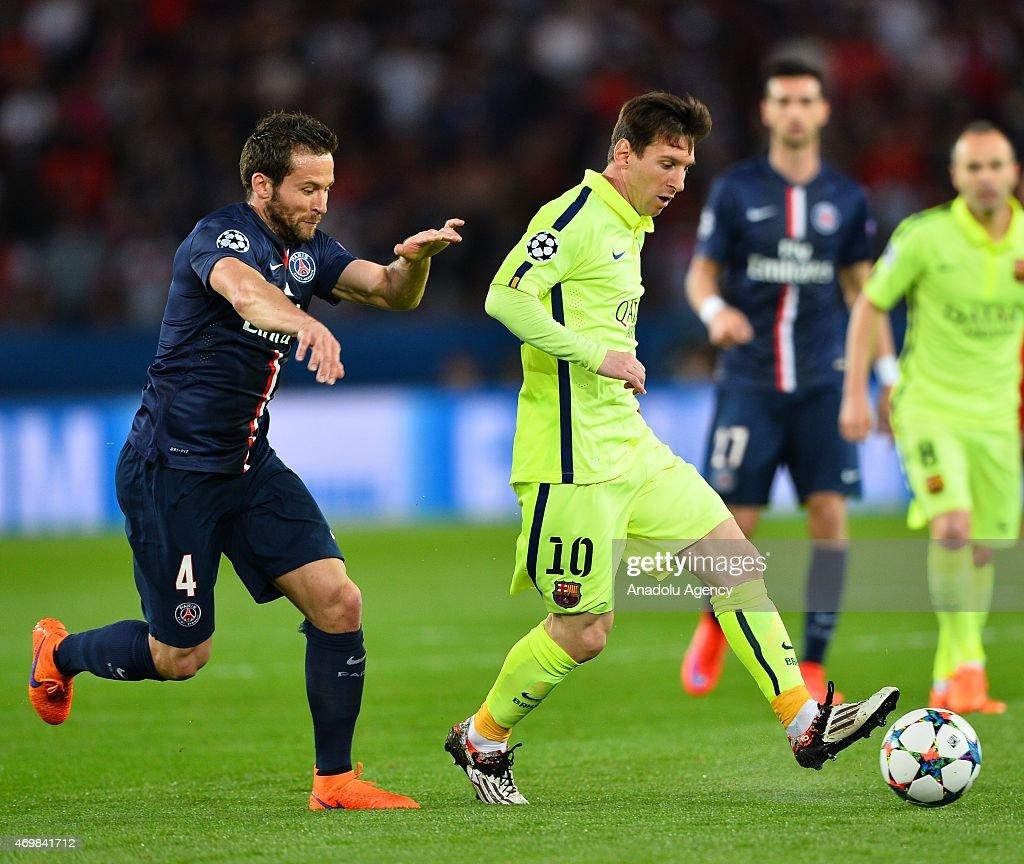 Paris Saint-Germain v FC Barcelona - UEFA Champions League Quarter Final: First Leg : News Photo