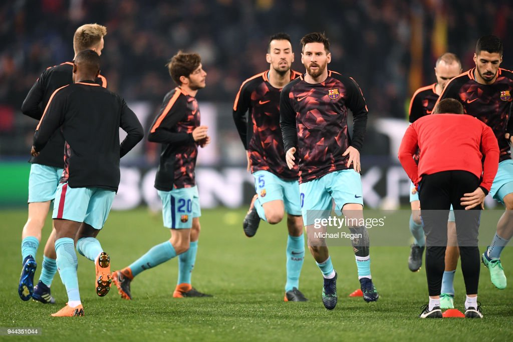 AS Roma v FC Barcelona - UEFA Champions League Quarter Final Second Leg : News Photo