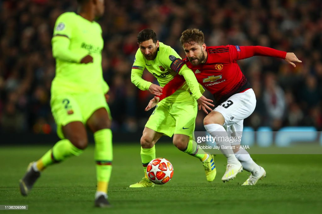 Manchester United v FC Barcelona - UEFA Champions League Quarter Final: First Leg : Nachrichtenfoto