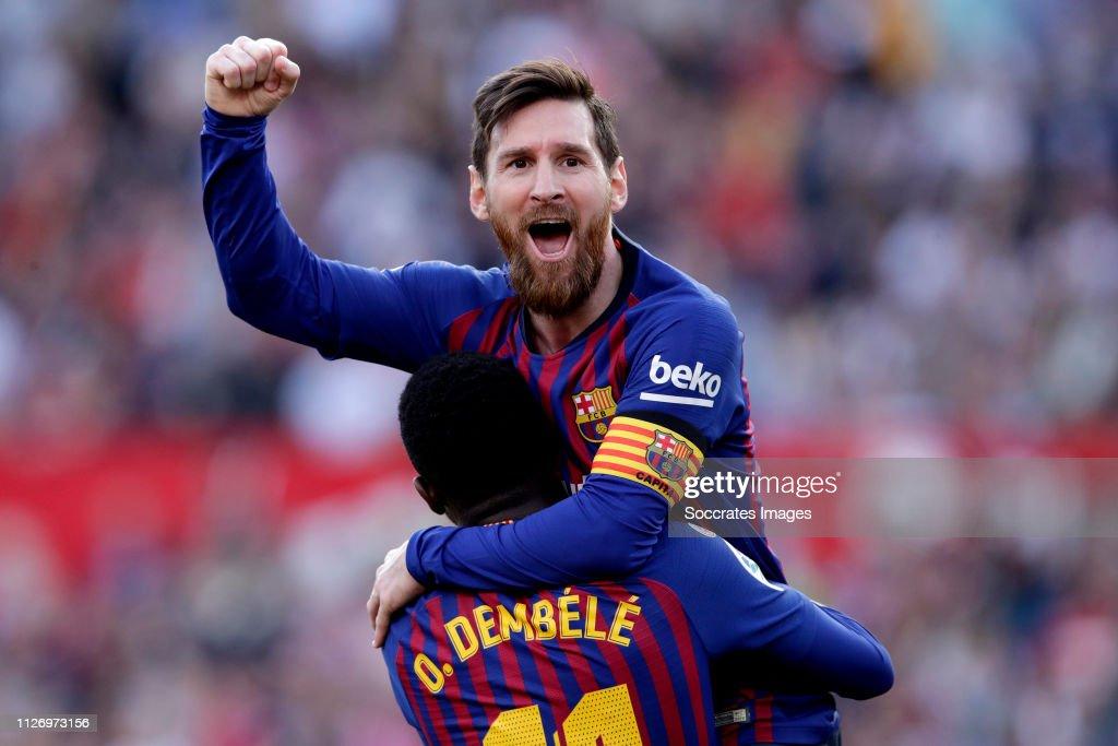 Sevilla v FC Barcelona - La Liga Santander : ニュース写真