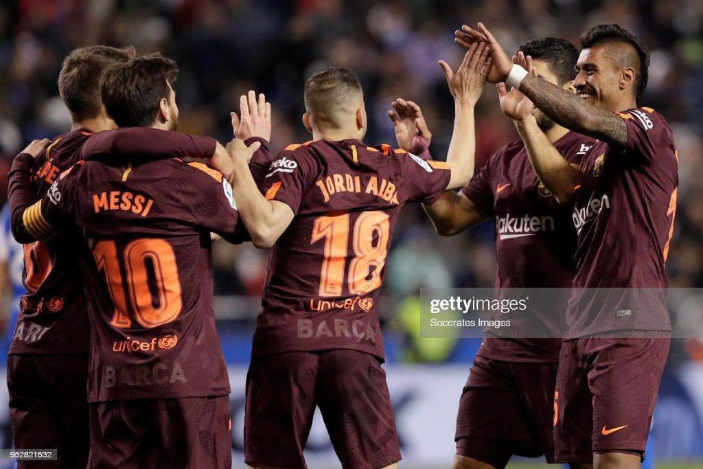 Deportivo la Coruna v FC Barcelona - La Liga Santander : News Photo