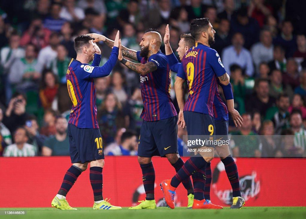 Real Betis Balompie v FC Barcelona - La Liga : News Photo
