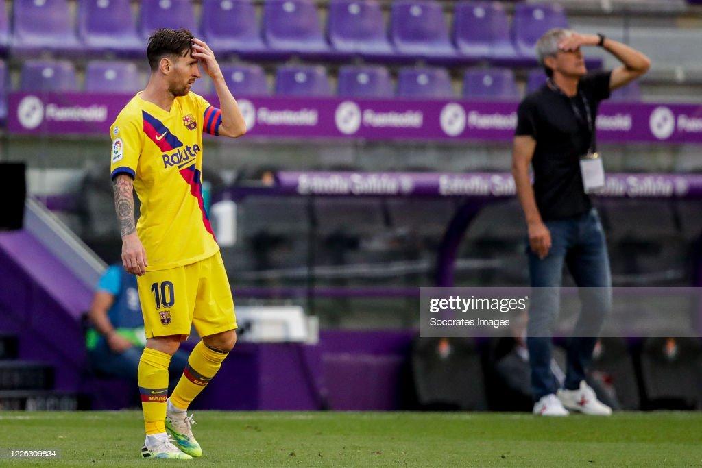 Real Valladolid v FC Barcelona - La Liga Santander : News Photo