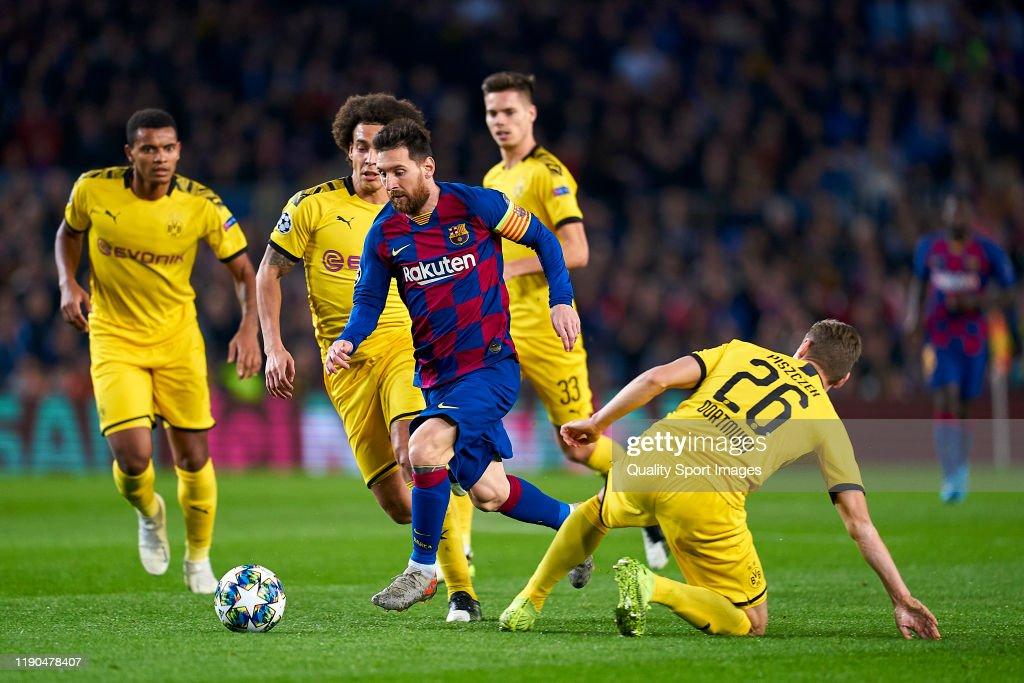 FC Barcelona v Borussia Dortmund: Group F - UEFA Champions League : Nachrichtenfoto