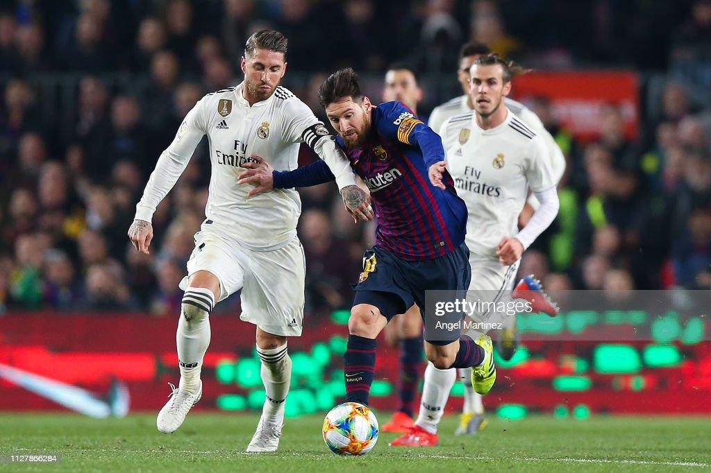 FC Barcelona v Real Madrid - Copa del Rey Semi Final : Fotografia de notícias
