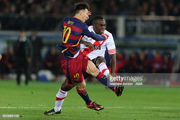 Lionel Messi of FC Barcelona during the FIFA Club World Cup Final Match between FC Barcelona and River Plate at International Stadium Yokohama on...