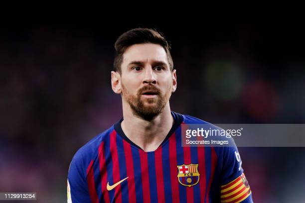 Lionel Messi of FC Barcelona during the La Liga Santander match between FC Barcelona v Rayo Vallecano at the Camp Nou on March 9 2019 in Barcelona...