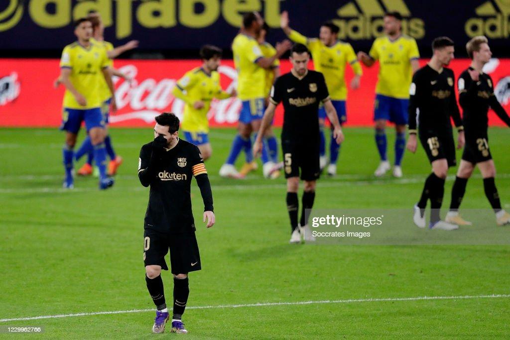 Cadiz FC v FC Barcelona - La Liga Santander : News Photo