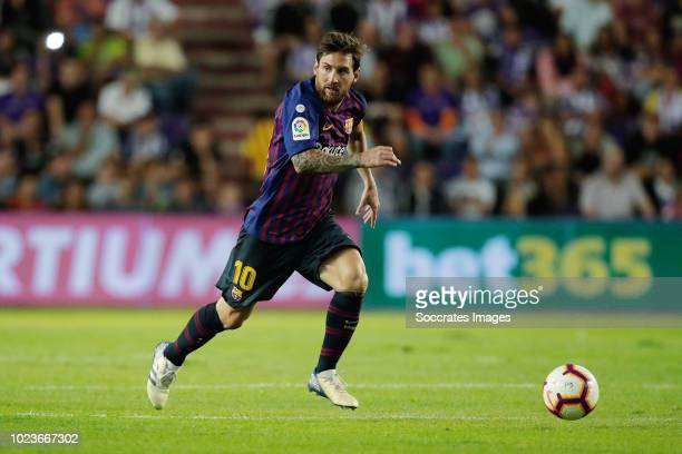 Lionel Messi of FC Barcelona during the La Liga Santander match between Real Valladolid v FC Barcelona at the Estadio Nuevo José Zorrilla on August...