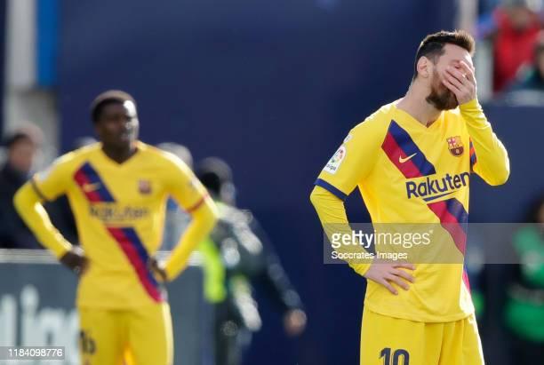 Lionel Messi of FC Barcelona during the La Liga Santander match between Leganes v FC Barcelona at the Estadio Municipal de Butarque on November 23,...