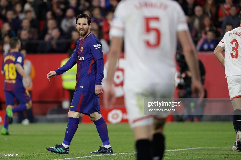Sevilla v FC Barcelona - La Liga Santander : News Photo