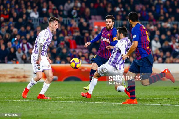 Lionel Messi of FC Barcelona during the match FC Barcelona against Real Valladolid for the round 24 of the Liga Santander played at Camp Nou on 16th...