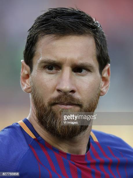 Lionel Messi of FC Barcelona during the Trofeu Joan Gamper match between FC Barcelona and Chapecoense on August 7 2017 at the Camp Nou stadium in...