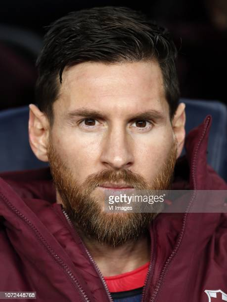 Lionel Messi of FC Barcelona during the UEFA Champions League group B match between FC Barcelona and Tottenham Hotspur FC at the Camp Nou stadium on...