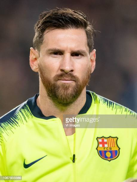 Lionel Messi of FC Barcelona during the UEFA Champions League group C match between PSV Eindhoven and FC Barcelona at the Phillips stadium on...