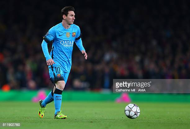 bed38382a28 Lionel Messi of FC Barcelona during the UEFA Champions League match between Arsenal  and Barcelona at