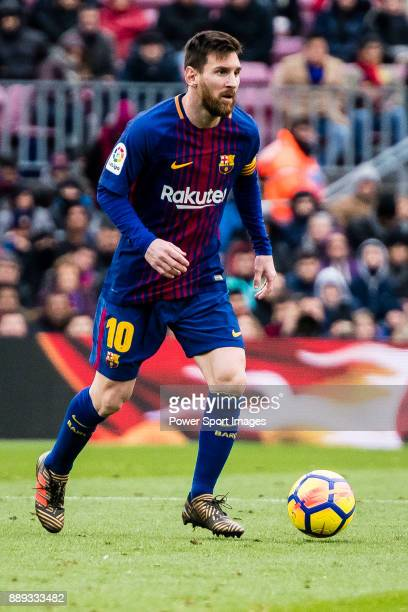 Lionel Messi of FC Barcelona in action during the La Liga 201718 match between FC Barcelona and RC Celta de Vigo at Camp Nou Stadium on 02 December...