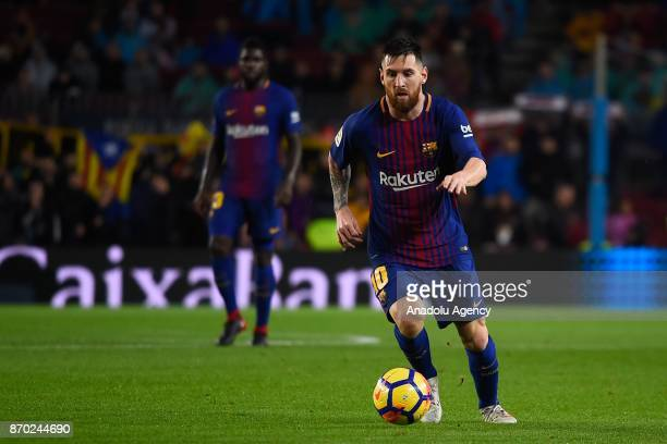 Lionel Messi of FC Barcelona in action during the Spanish league football match between FC Barcelona and Sevilla FC at the Camp Nou in Barcelona...