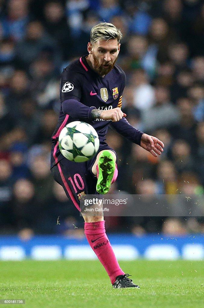 Manchester City FC v FC Barcelona - UEFA Champions League : Fotografia de notícias